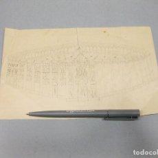 Arte: DIBUJO A LÁPIZ DE LA PLAZA DE TOROS DE GOYA. MADRID.. Lote 194623325