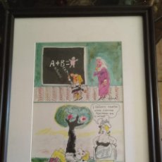 Arte: ABELENDA. DIBUJO ORIGINAL LA CODORNIZ. Lote 194628115