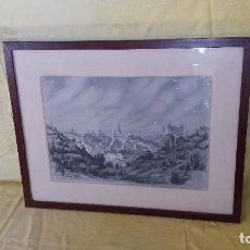 Arte: CUADRO CON DIBUJO AL CARBONCILLO, PAISAJE, FIRMADO CAMARERO, 1979, ENMARCADO, UNOS 60 X 47 CMS.. Lote 194654321