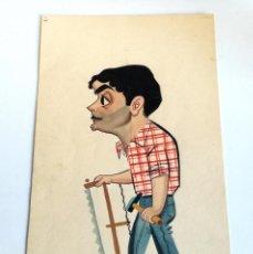 Arte: GOUACHE O ACUARELA CARTÓN CARTULINA CREEMOS ORIGINAL FIRMADO DIBUJANTE MONTALBÁN 1958. Lote 194662000