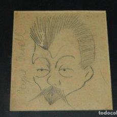Arte: (M) DIBUJO ORIGINAL DE JOAQUIN AYNÉ RAVELL - DIRECTOR DE LA REVISTA CATALUNYA ARTISTICA. Lote 194667141
