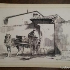 Arte: DIBUJO FIRMADO Y DEDICADO POR GOMEZ FUSTE. AÑO 1982. CASA PAIRAL DELS CERDANYA ANY 1580. CAN SUMARRO. Lote 194667870