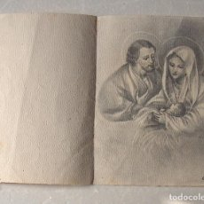 Arte: DIBUJO ORIGINAL SAN JOSÉ, LA VIRGEN Y JESUS, SOBRE CARTULINA. Lote 194688250