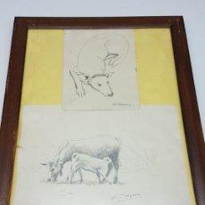 Arte: DIBUJO A LÁPIZ ( PINTOR TRAPERO ) AÑOS 70. Lote 194708740