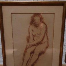 Arte: MUJER SENTADA Y DESNUDA - FIRMADO : SERRA. Lote 194759272
