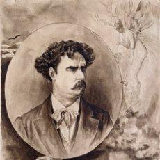 Arte: RETRATO DEL PINTOR MARIANO FORTUNY. Lote 194783586