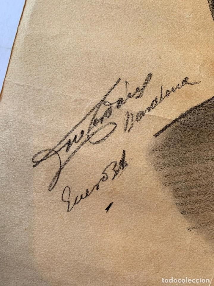 Arte: JOSEP CERDANS - RETRATO HOMBRE UNIFORMADO 1931 - Foto 2 - 194866855