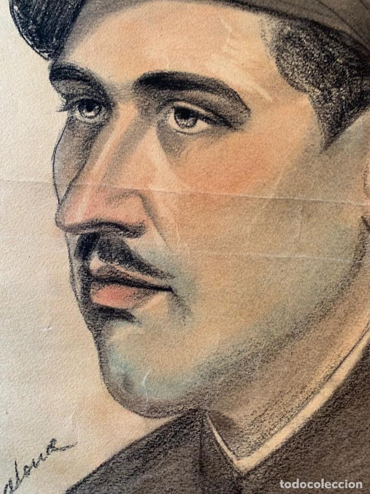 Arte: JOSEP CERDANS - RETRATO HOMBRE UNIFORMADO 1931 - Foto 3 - 194866855