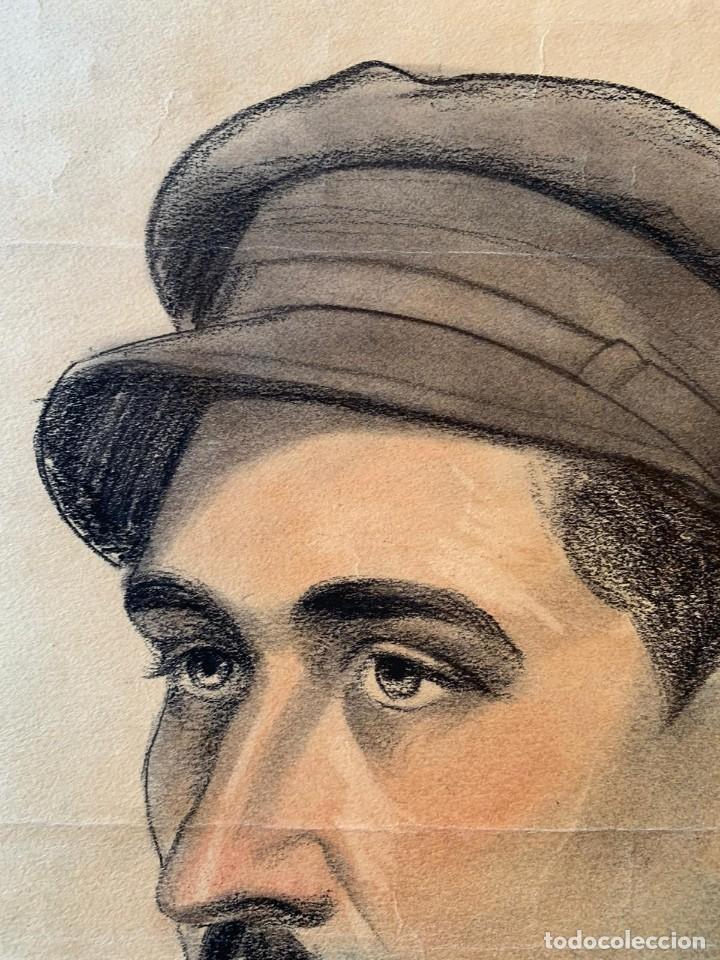 Arte: JOSEP CERDANS - RETRATO HOMBRE UNIFORMADO 1931 - Foto 4 - 194866855