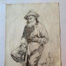 Arte: ANTONI TRULLS PONS- ANCIANO CON NIÑO. Lote 194867561