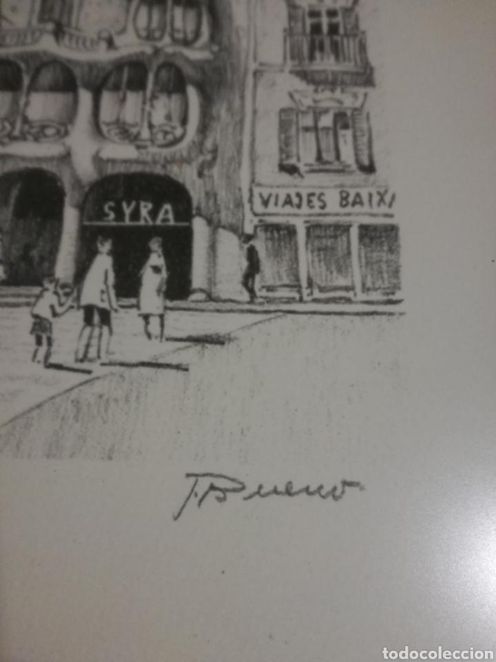 Arte: Francisco Bueno cuadro Gaudi Casa Batllo pintura numerada - Foto 2 - 194884645