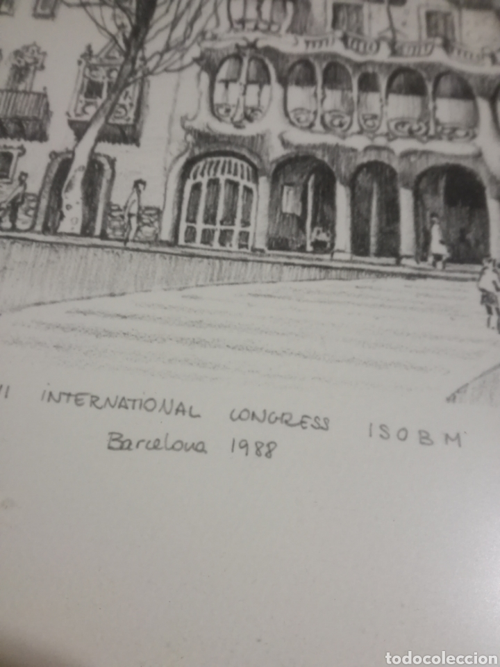 Arte: Francisco Bueno cuadro Gaudi Casa Batllo pintura numerada - Foto 3 - 194884645