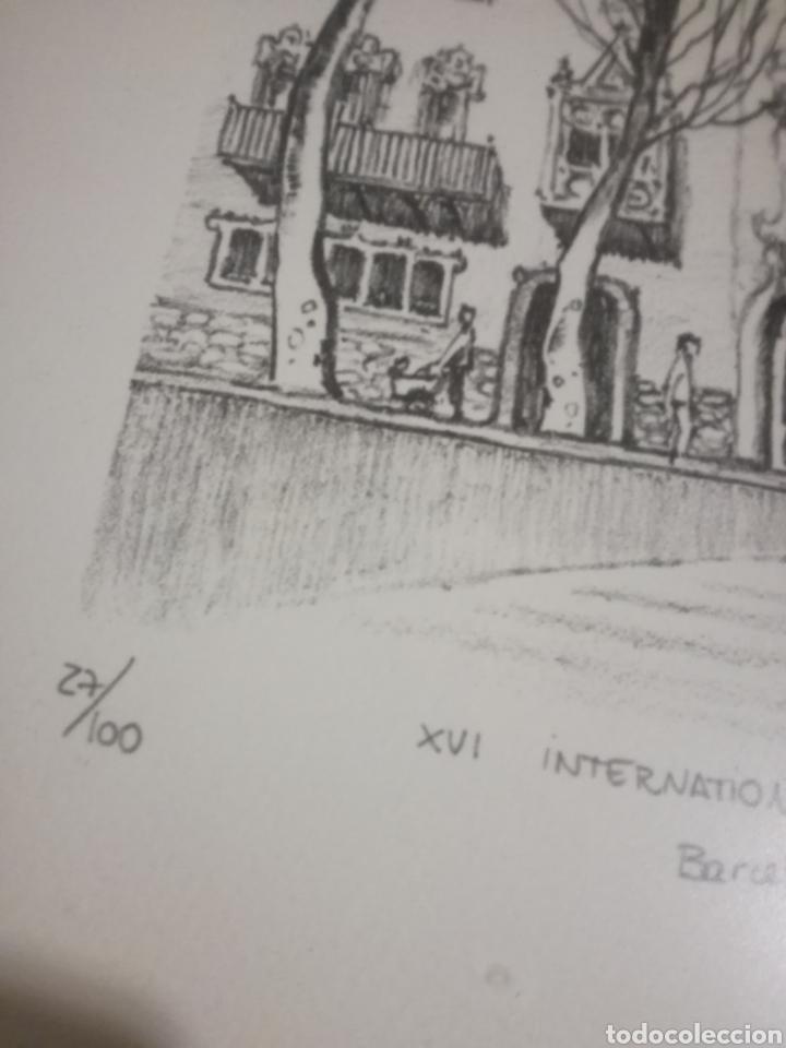 Arte: Francisco Bueno cuadro Gaudi Casa Batllo pintura numerada - Foto 4 - 194884645