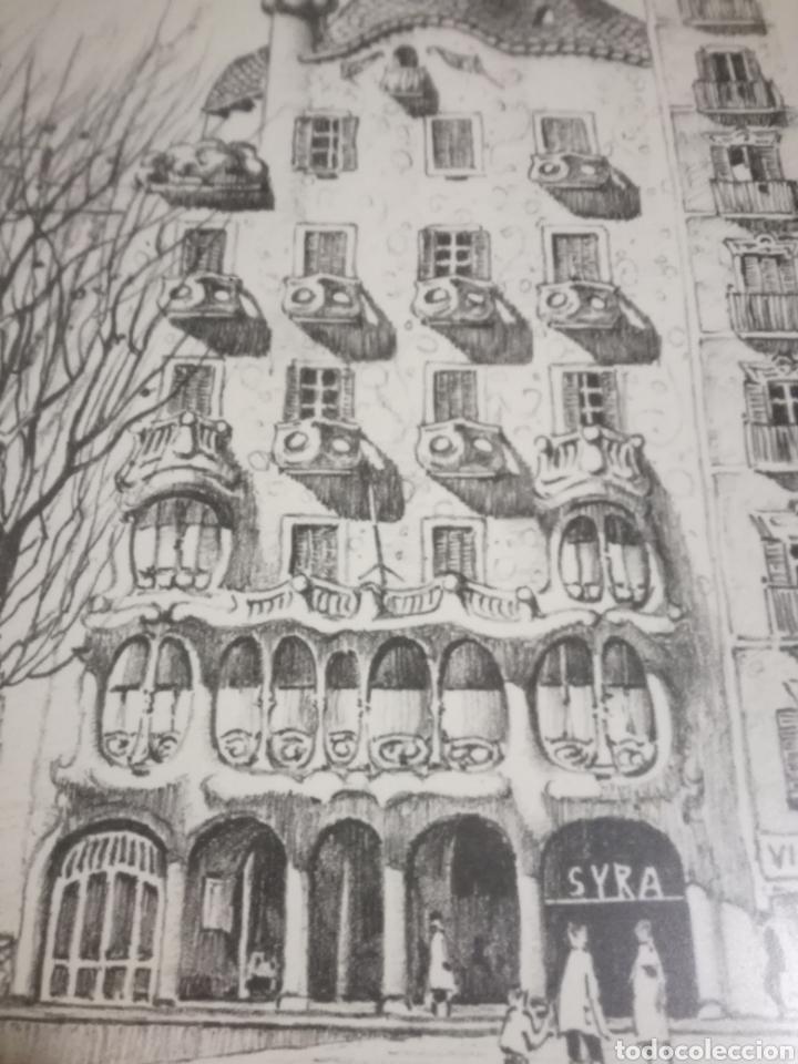 Arte: Francisco Bueno cuadro Gaudi Casa Batllo pintura numerada - Foto 7 - 194884645