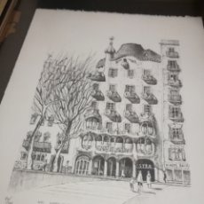 Arte: FRANCISCO BUENO CUADRO GAUDI CASA BATLLO PINTURA NUMERADA. Lote 194884645