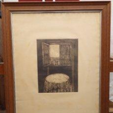 Arte: GRAN CUADRO FIRMADO Y NUMERADO M. MANRIQUE 79X61 CM. Lote 194926468