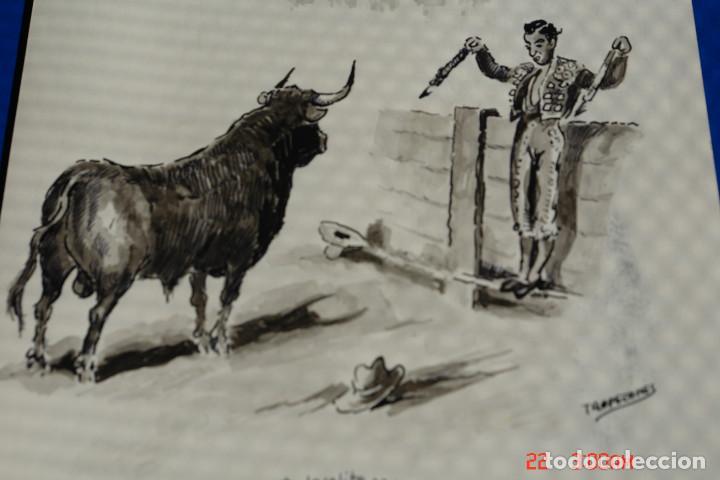 DIBUJO O CARICATURA O DIBUJO ORIGINAL PINTADO A TINTA O PLUMILLA A MANO-FIRMADO TROPEZONE (Arte - Dibujos - Contemporáneos siglo XX)