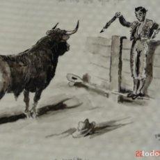 Arte: CARICATURA O DIBUJO ORIGINAL PINTADO A TINTA O PLUMILLA A MANO-FIRMADO TROPEZONE. Lote 194957508