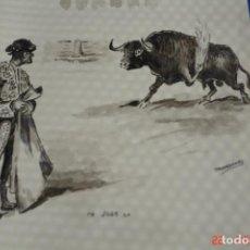Arte: CARICATURA ORIGINAL PINTADO A TINTA O PLUMILLA A MANO-FIRMADO TROPEZONE. Lote 194957867