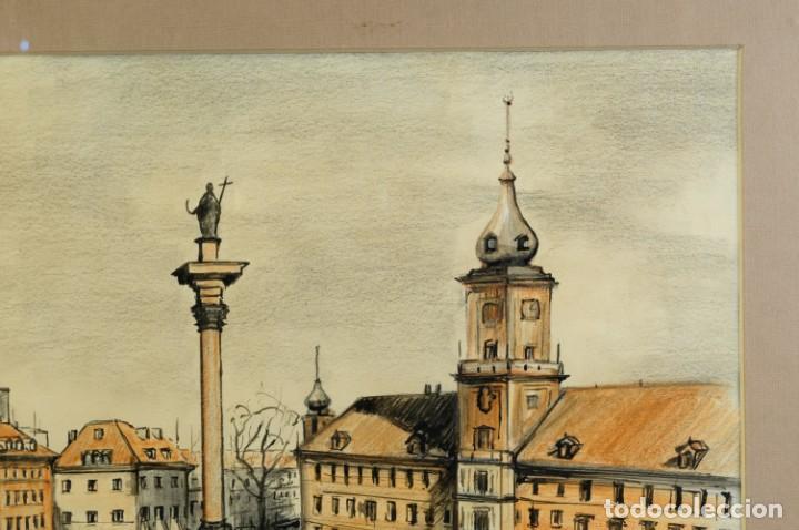 Arte: Dibujo Vista ciudad de Varsovia firmado Ribalta 1995 - Foto 2 - 194963001