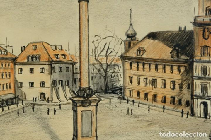 Arte: Dibujo Vista ciudad de Varsovia firmado Ribalta 1995 - Foto 5 - 194963001