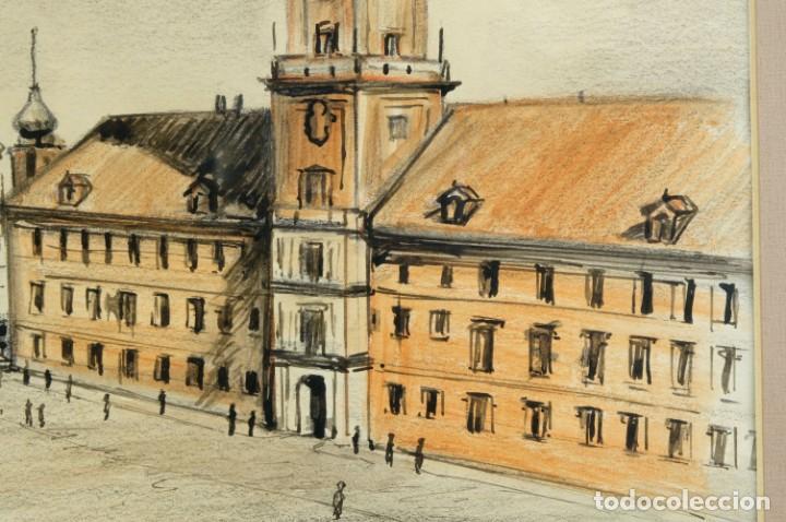 Arte: Dibujo Vista ciudad de Varsovia firmado Ribalta 1995 - Foto 6 - 194963001