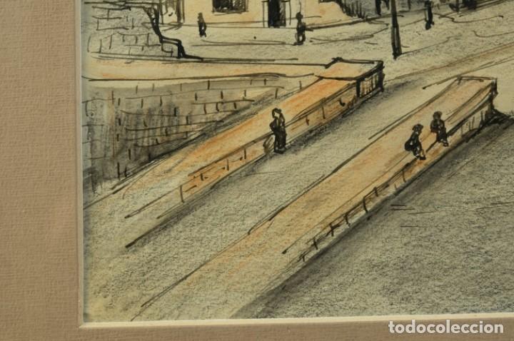 Arte: Dibujo Vista ciudad de Varsovia firmado Ribalta 1995 - Foto 7 - 194963001