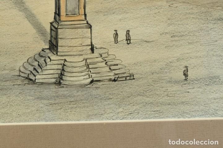 Arte: Dibujo Vista ciudad de Varsovia firmado Ribalta 1995 - Foto 8 - 194963001