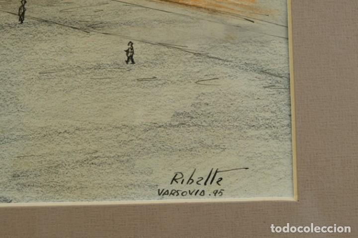 Arte: Dibujo Vista ciudad de Varsovia firmado Ribalta 1995 - Foto 9 - 194963001
