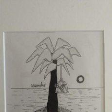 Arte: CARUNCHO DIBUJO ORIGINAL LA CODORNIZ. Lote 194966970