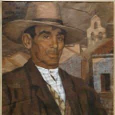 Arte: J. GALLEGOS ?, MAGNIFICO Y ANTIGUO DIBUJO FIRMADO.. Lote 194996817