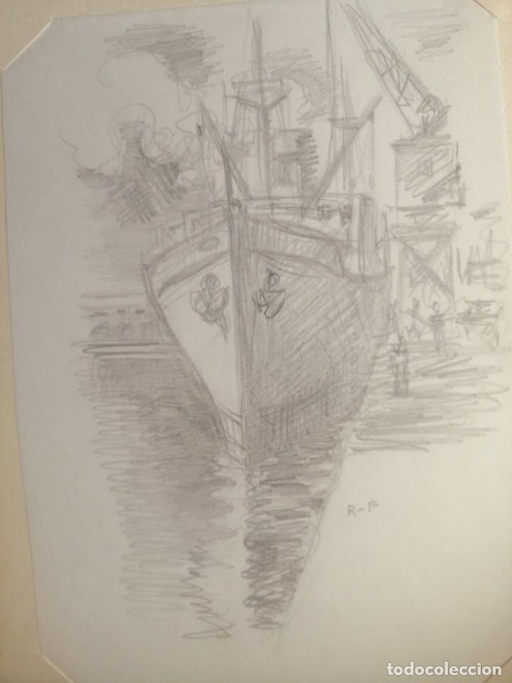 Arte: Coleccion 87 piezas del artista R.P y otras de otros pintores - Foto 23 - 195001520