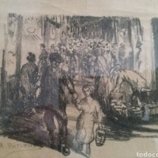 Arte: PINTURA A LÁPIZ.A.BERLANGA.. Lote 195024127
