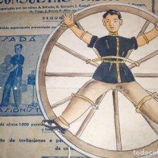 Arte: ORIGINAL DIBUJO PARA POSIBLE CARTEL CIRCO O TEATRO ,(PARA EVASIONISTA SADÁ)CÍRCULO OPISSO .. Lote 195047923