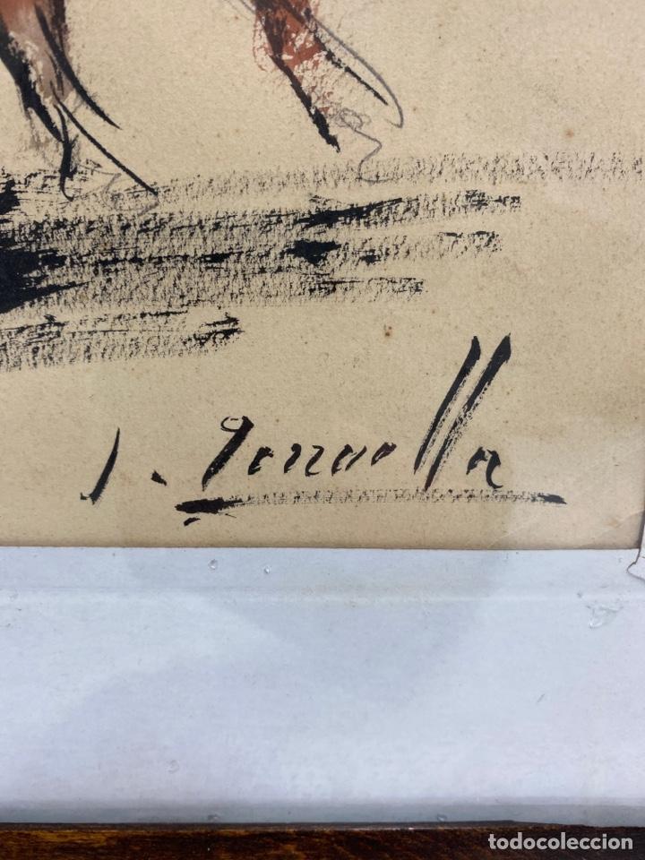 Arte: C-951. DIBUJO TINTA Y ACUARELA SOBRE PAPEL. TORERO. FIRMADO J.TERRUELLA. S.XX. - Foto 3 - 195069373