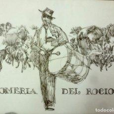 Arte: DIBUJO DE JOHN FULTON.A TINTA. AUTOR NORTEAMERICANO. EL ROCIO. Lote 195131083