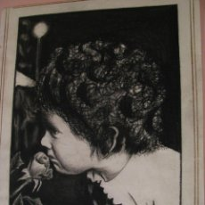 Arte: DIBUJO A LÁPIZ O CARBONCILLO. FIRMADO A. SANCHEZ. IMAGEN 29X20,5 CM. PAPEL 32,5X25,5 CM.. Lote 195147586