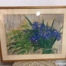 Arte: DIBUJO A LA CERA FIRMADO POR ZAERA GASIÓN. Lote 195165713