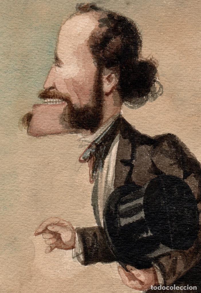 Arte: Josep Parera i Romero (Barcelona 1830 - 1902) Marchese brivio, caricatura 18x29 cm. - Foto 3 - 195171245