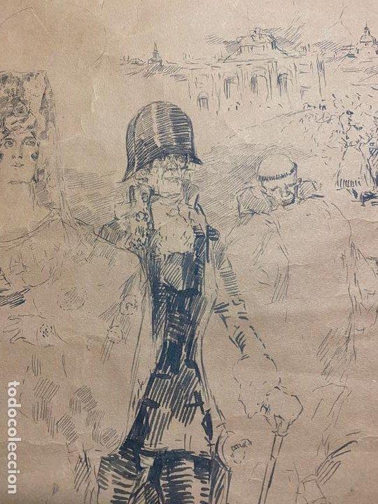 Arte: RICARDO MARIN LLOVET , DIBUJO ORIGINAL , FIRMADO Y DEDICADO - Foto 2 - 195181228