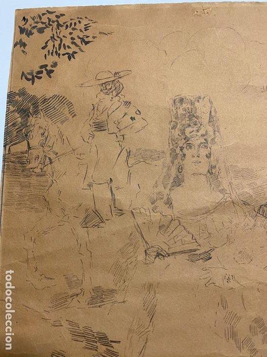 Arte: RICARDO MARIN LLOVET , DIBUJO ORIGINAL , FIRMADO Y DEDICADO - Foto 3 - 195181228