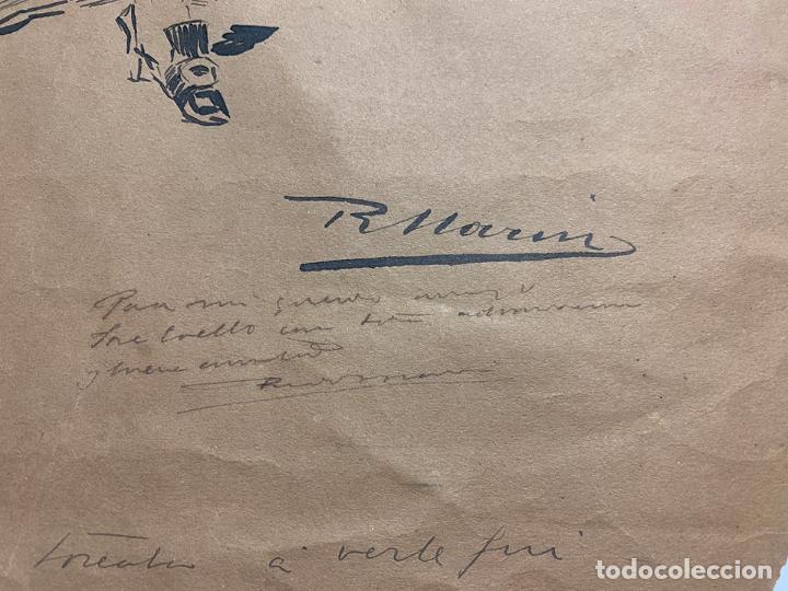 Arte: RICARDO MARIN LLOVET , DIBUJO ORIGINAL , FIRMADO Y DEDICADO - Foto 4 - 195181228