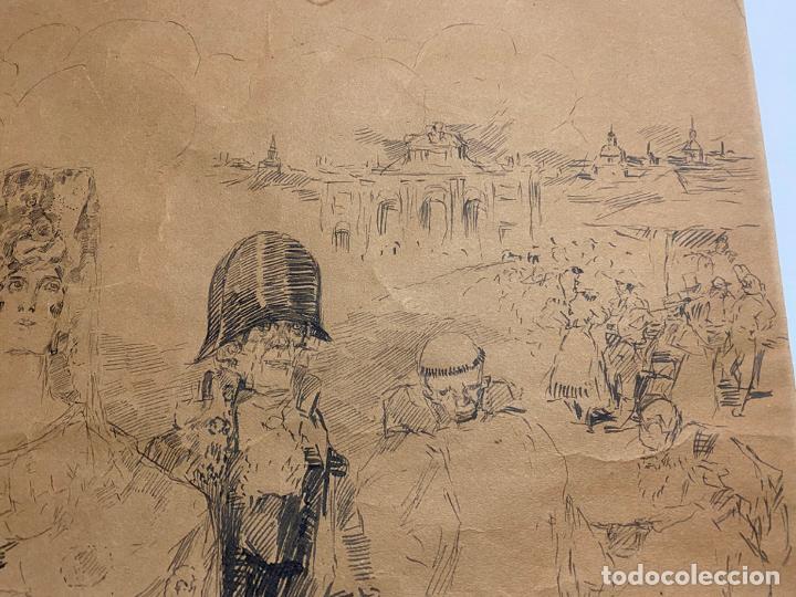 Arte: RICARDO MARIN LLOVET , DIBUJO ORIGINAL , FIRMADO Y DEDICADO - Foto 5 - 195181228