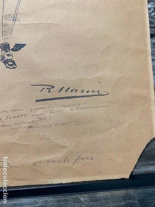 Arte: RICARDO MARIN LLOVET , DIBUJO ORIGINAL , FIRMADO Y DEDICADO - Foto 7 - 195181228