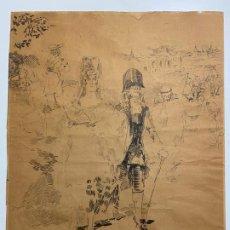 Arte: RICARDO MARIN LLOVET , DIBUJO ORIGINAL , FIRMADO Y DEDICADO . Lote 195181228