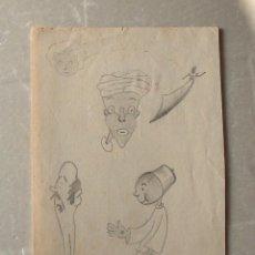 Arte: DIBUJOS CARICATURAS MOROS. Lote 195182680