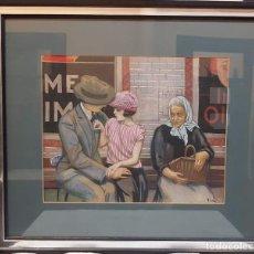 Arte: EMILI VILÀ GORGOLL(LLAGOSTERA 1887-1967) TECNICA MIXTA PAPEL .TEMA ART DECO. Lote 195184190