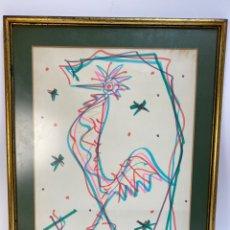 Arte: DIBUJO A ROTULADOR SOBRE PAPEL, AVE. FIRMADO RAFAEL ALBERTI. 1979.. Lote 195184847