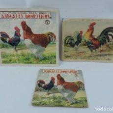 Arte: ACUARELA ORIGINAL DE LA PORTADA DEL CUENTO ANIMALES DOMESTICOS 2, ILUSTRADOR LUIS PALAO, JUNTO CON E. Lote 195276813