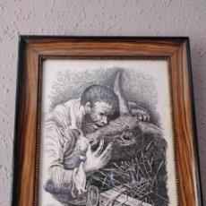 Arte: DIBUJO A PLUMILLA DE E. CASELLAS 1969 . . Lote 195300330